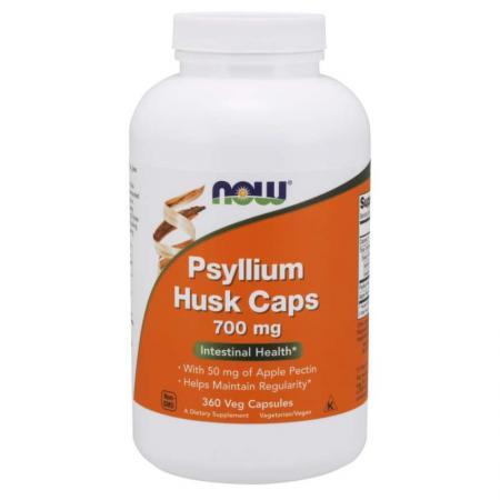NOW Psyllium Husk 700 mg, 360 вегакапсул