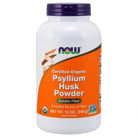 NOW Organic Psyllium Husks, 340 грамм