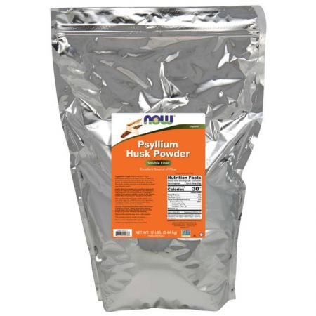 NOW Psyllium Husks Powder, 5.44 кг