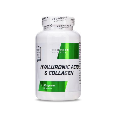 Progress Nutrition Hyaluronic acid & Collagen, 60 капсул