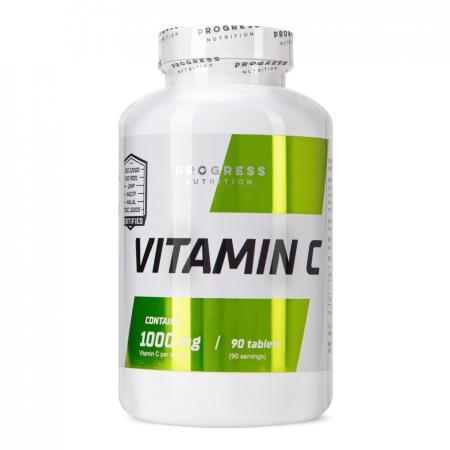 Progress Nutrition Vitamin C 1000 mg, 90 таблеток