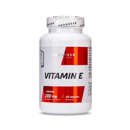 Progress Nutrition Vitamin E, 60 капсул