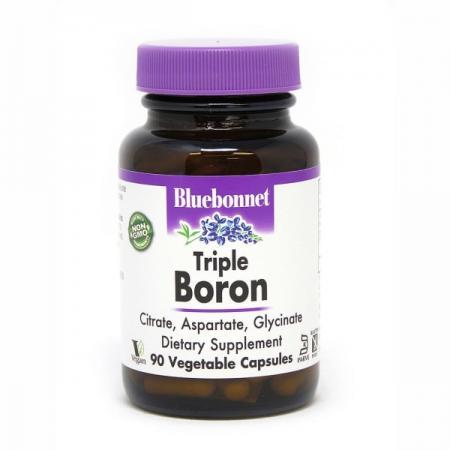 Bluebonnet Triple Boron 3 mg, 90 вегакапсул