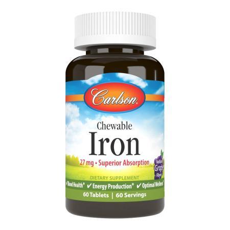 Carlson Labs Chewable Iron 27 mg, 60 таблеток
