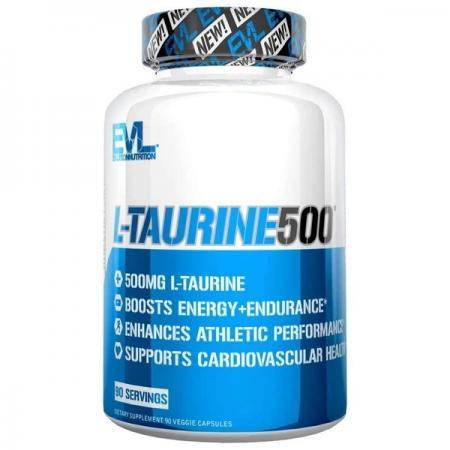EVL L-Taurine 500, 90 вегакапсул