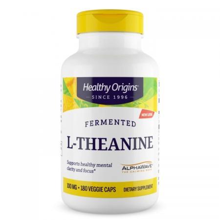 Healthy Origins L-Theanine 100 mg, 180 вегакапсул