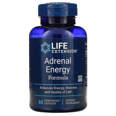 Life Extension Adrenal Energy Formula, 60 вегакапсул