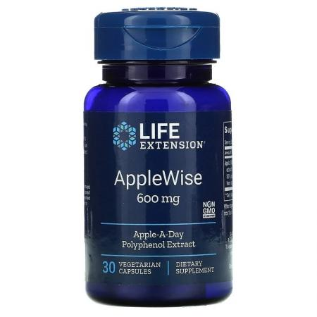 Life Extension AppleWise 600 mg, 30 вегакапсул