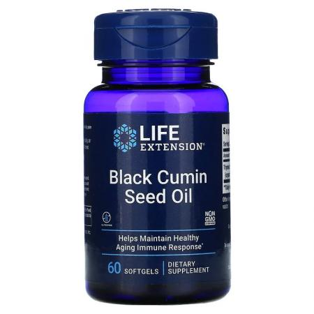 Life Extension Black Cumin Seed Oil, 60 капсул