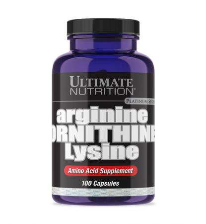 Ultimate Arginine Ornithine Lysine, 100 капсул