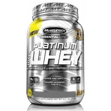 Muscletech Platinum 100% Whey, 900 грамм