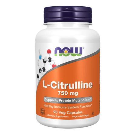 NOW L-Citrulline 750 mg, 90 вегакапсул