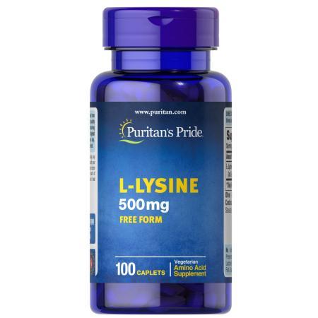 Puritan's Pride L-Lysine 500 mg, 100 каплет