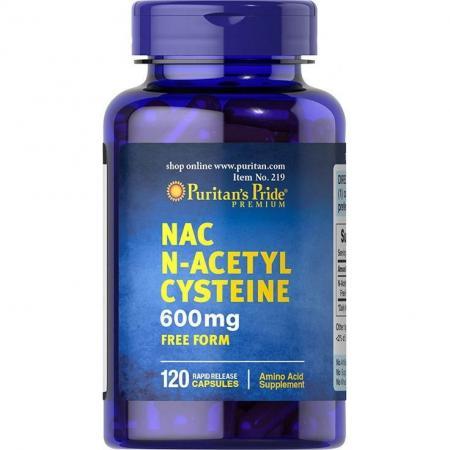 Puritan's Pride N-Acetyl Cysteine 600 mg, 120 капсул