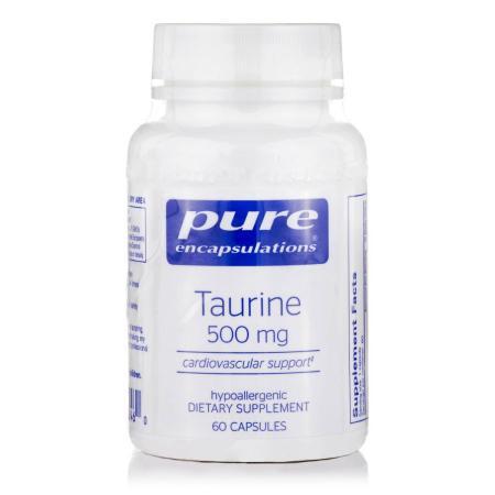 Pure Encapsulations Taurine 500 mg, 60 капсул
