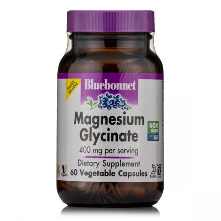 Bluebonnet Magnesium Glycinate, 60 вегакапсул
