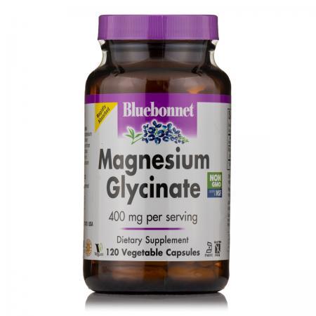 Bluebonnet Magnesium Glycinate, 120 вегакапсул