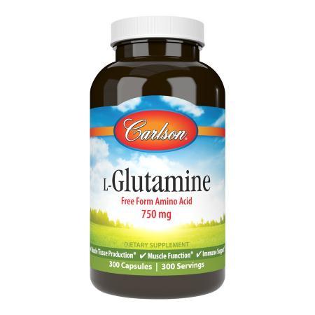 Carlson Labs L-Glutamine 750 mg, 300 капсул