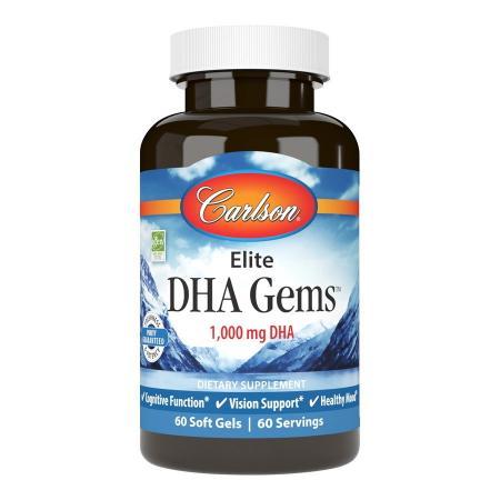 Carlson Labs Elite DHA Gems, 60 капсул