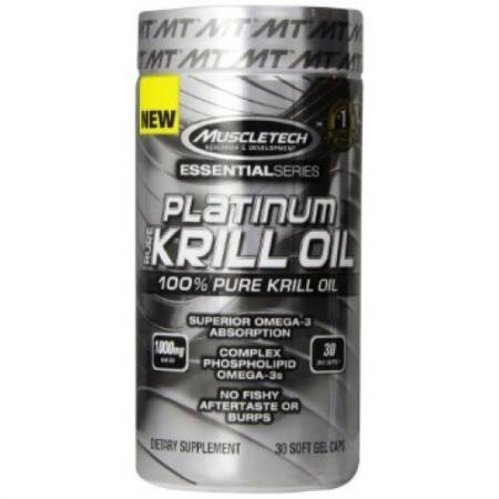 Muscletech Platinum Pure Krill Oil, 30 капсул